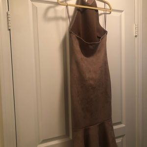 Suede medium dress